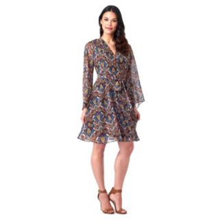 Women's Indication by ECI Print Fit & Flare Dress