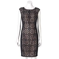 Women's Suite 7 Circle Lace Sheath Dress