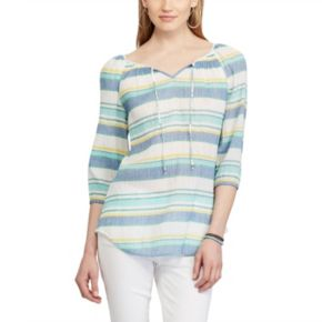 Petite Chaps Striped Peasant Top