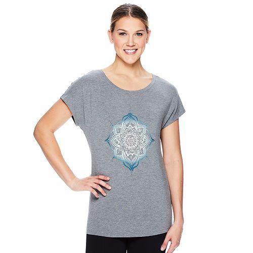 Women's Gaiam Intention Graphic-Print Yoga Tee