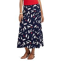 Petite Chaps Sailboat Wrap Maxi Skirt