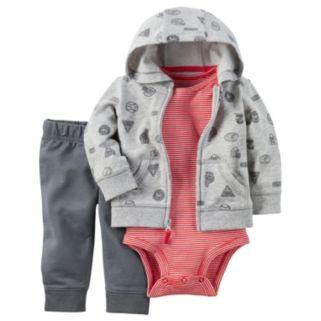 Baby Boy Carter's Sports Cardigan, Bodysuit & Pants Set
