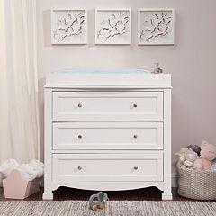 Davinci Emily Kalani 3 Drawer Dresser Espresso White Chestnut Gray