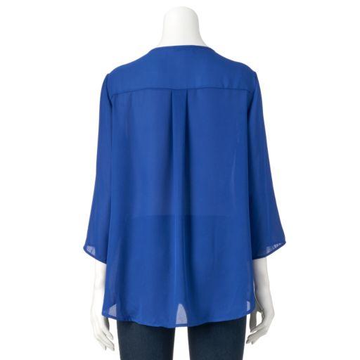 Women's Double Click Zipper Top