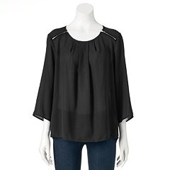 Women's Double Click Zipper Top