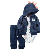 Baby Boy Carter's Monster Cardigan, Bodysuit & Jogger Pants Set