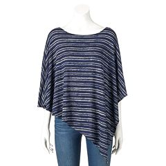 Women's Double Click Asymmetrical Striped Top