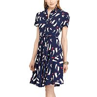 Petite Chaps Sailboat Print Shirtdress