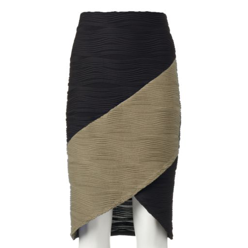 Women's Double Click Wavy Colorblock Skirt