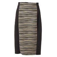 Women's Double Click Wavy Scuba Pencil Skirt