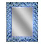 Head West Blue Ocean Mosaic Tile Wall Mirror