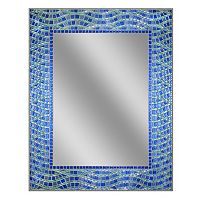 Head West Blue Ocean Mosaic Tile Wall Mirror
