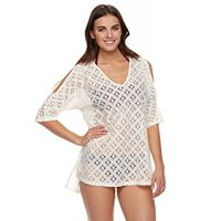 Women's Portocruz Lace Cold-Shoulder Cover-Up