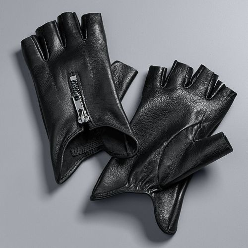 Women's Simply Vera Vera Wang Leather Fingerless Gloves
