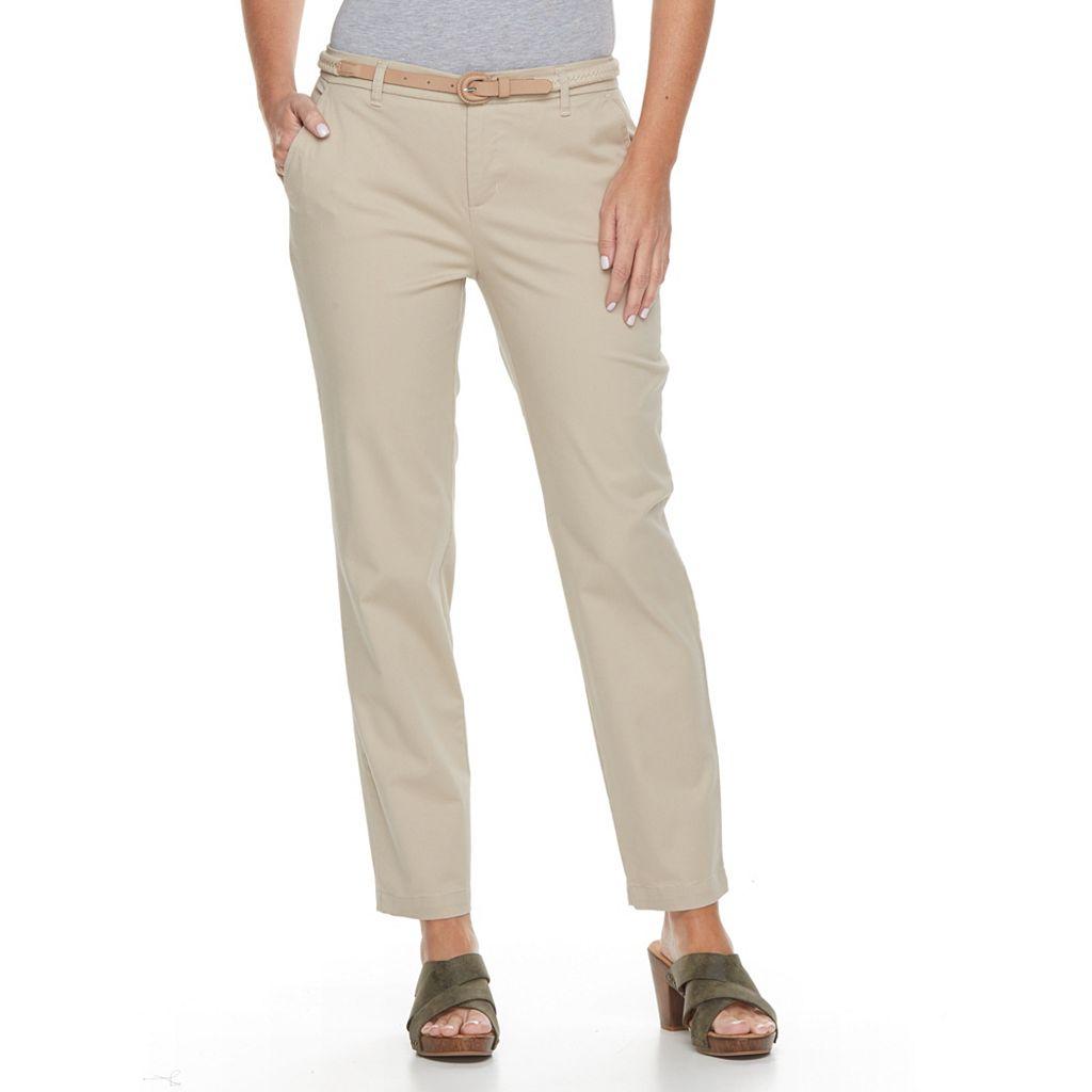 Women's Croft & Barrow® Tapered Chino Pants