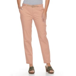 Women's Croft & Barrow® Tapered Chino Pants