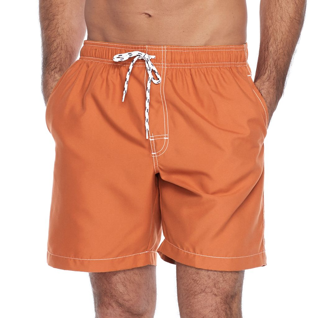 Men's Croft & Barrow® Solid Microfiber Swim Trunks