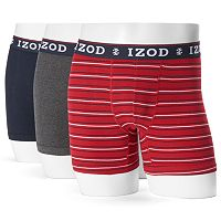 Men's IZOD 3-pack Boxer Brief Gift Box