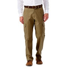 Big & Tall Haggar Flat-Front Stretch Comfort Cargo Expandable Waist Pants