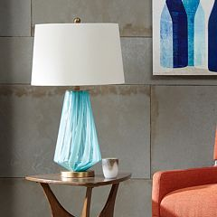 INK + IVY Waves Glass Table Lamp