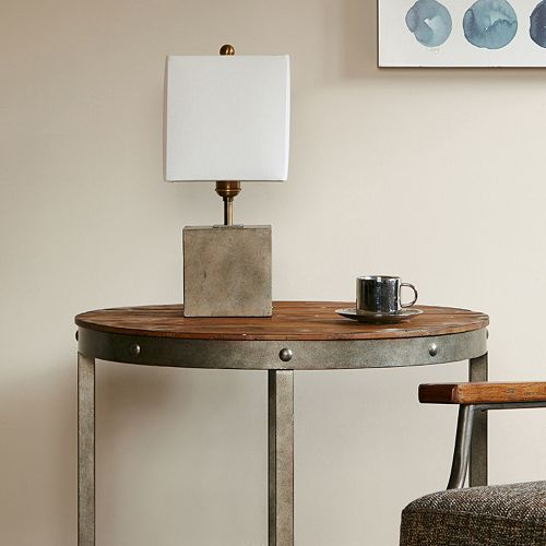 INK + IVY Quad Cement Square Table Lamp