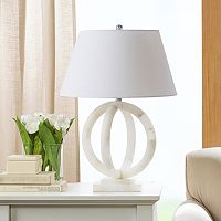 Madison Park Cerc Alabaster Table Lamp