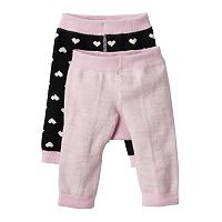 Baby Girl Cuddl Duds 2-pk. Heart Fleece Leggings