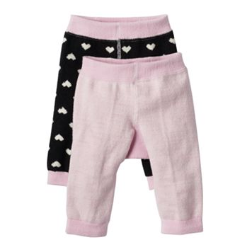 Baby Girl Cuddl Duds 2-pk. Heart Fleece Leggings