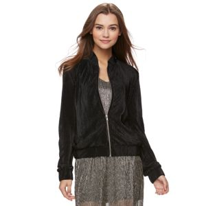 Juniors' Jolie Vie Pleated Bomber Jacket