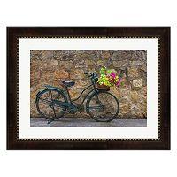 Metaverse Art Green Bicycle Framed Wall Art