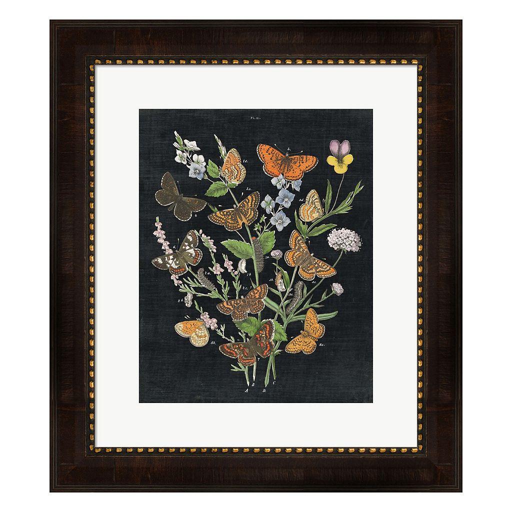 Metaverse Art Butterfly Bouquet On Black I Framed Wall Art