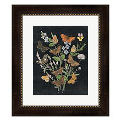 Metaverse Art Butterfly Bouquet On Black I Framed Wall Art