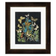 Metaverse Art Butterfly Bouquet On Black II Framed Wall Art