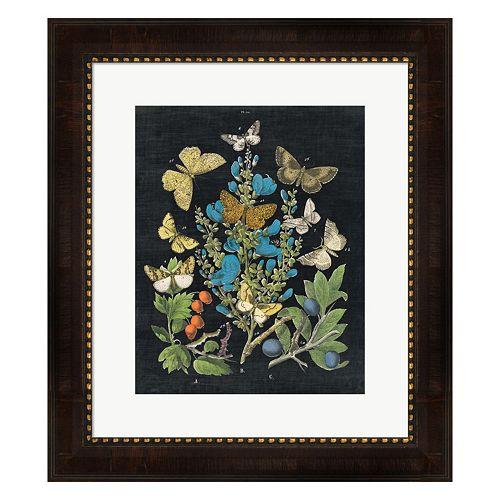Metaverse Art Butterfly Bouquet On Black II Framed Wall Art