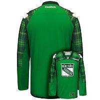 Men's Reebok New York Rangers Saint Patrick's Day Tartan Plaid Jersey