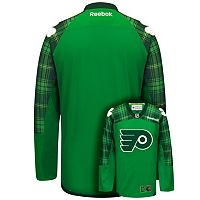 Men's Reebok Philadelphia Flyers Saint Patrick's Day Tartan Plaid Jersey