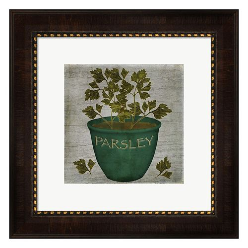 Metaverse Art Herb Parsley Framed Wall Art