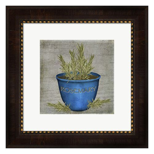 Metaverse Art Herb Rosemary Framed Wall Art