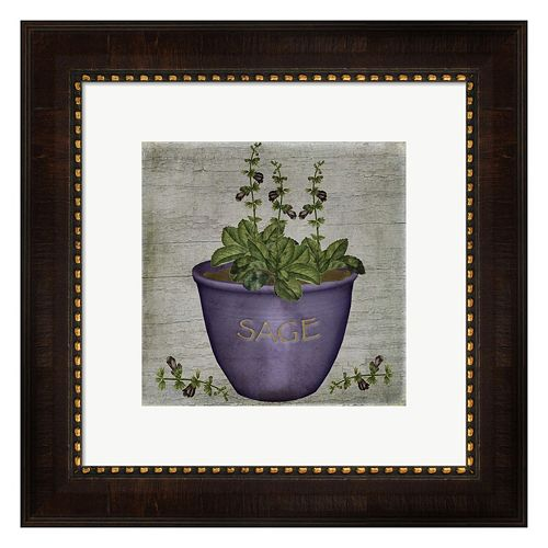 Metaverse Art Herb Sage Framed Wall Art