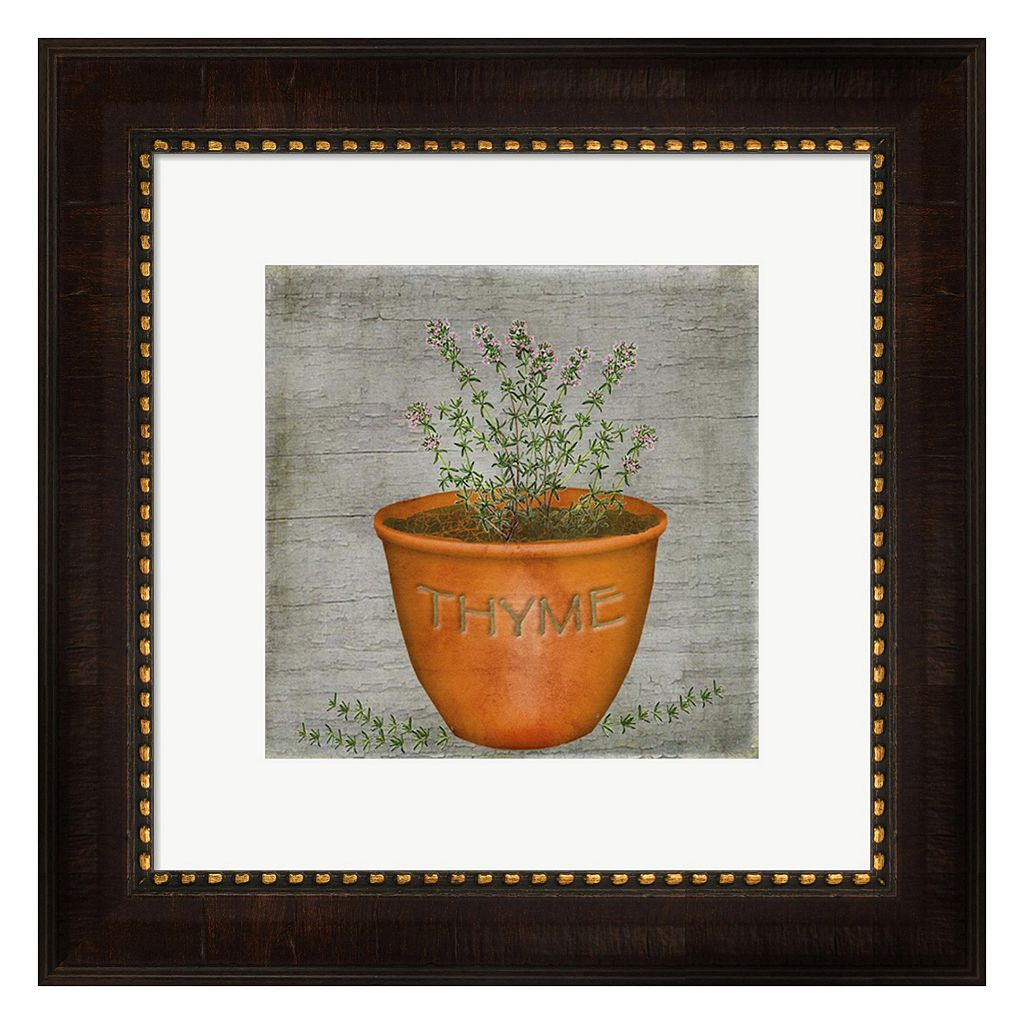Metaverse Art Herb Thyme Framed Wall Art