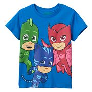 Toddler PJ Masks 'Time To Be A Hero' Gekko, Catboy & Owlette Graphic Tee