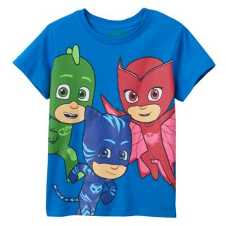 """Toddler PJ Masks """"Time To Be A Hero"""" Gekko, Catboy & Owlette Graphic Tee"""