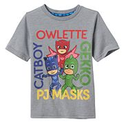 Toddler Boy PJ Masks Owlette, Gekko & Catboy Names Graphic Tee
