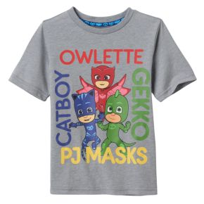 Toddler Boy PJ Masks Owlette, Gekko & Catboy Names Graphic Tee