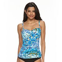 Women's Apt. 9® Printed Twist Bandeaukini Top
