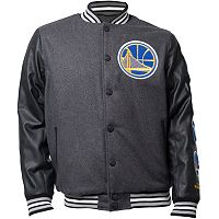 Men's Golden State Warriors Scorch Wool-Blend Varsity Jacket