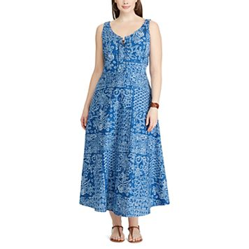 Plus Size Chaps Patchwork Maxi Dress