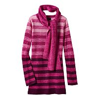Girls 7-16 It's Our Time Marled Ombre Sweater Tunic with Scarf