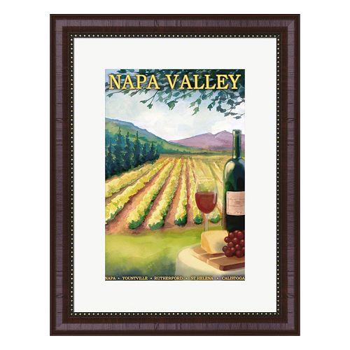 Metaverse Art Napa Valley Ad Framed Wall Art