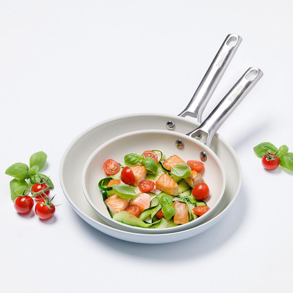 GreenPan Padova 2-pc. Hard-Anodized Nonstick Ceramic Frypan Set